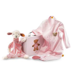 Steiff Geschenkset Träum-süß-Lamm Schmusetuch, rosa