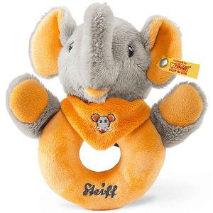 Steiff Trampili Elefant Greifling mit Rassel, orange/grau, 12