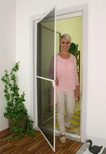 1PLUS Insektenschutz Alu Rahmen System basis für Türen 120 x 240 cm, anthrazit