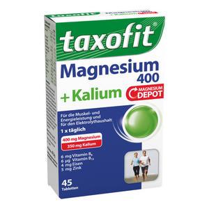 taxofit Magnesium 400 + Kalium mit Magnesium Depot Tabl