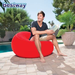 Bestway Aufblasbarer Sessel Inflate-a-chair Rot