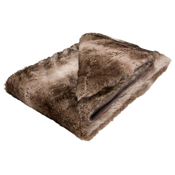 Schlafdecke Mink de Luxe (140x200, grau)