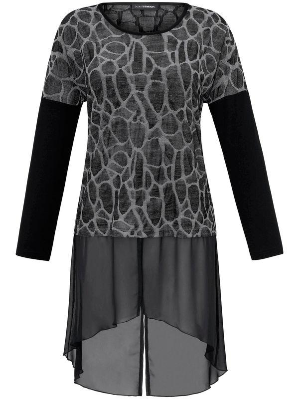 new styles 0bb18 05471 Blusen-Kleid 3/4-Arm Doris Streich schwarz
