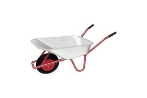 Garten- und Bauschubkarre 85 L, max. Tragkraft... mit verzinkter Stahlmulde
