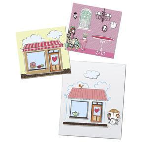 Rossmann Ideenwelt 6 Soft-Schablonen mit 6 Stickerbögen