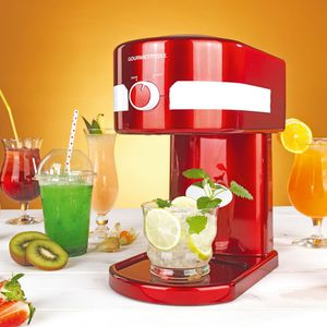 GOURMETmaxx Eismaschine Slush & Crushed Ice 30W rot/weiß