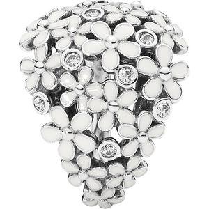 Pandora Damen Ring ´´190936EN12´´ Liebliche Gänseblümchen, 925er Silber mit Zirkonia und Emaille