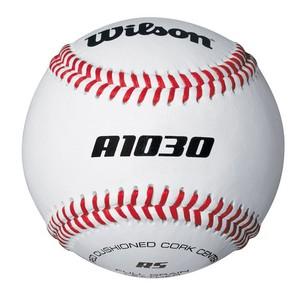 WILSON Baseball A1030 Leder 9 Zoll weiß, Größe: Einheitsgröße