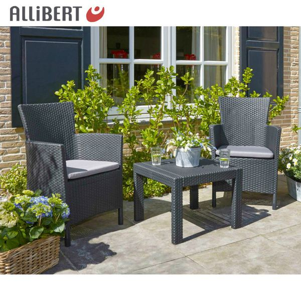 allibert balkon sitzgruppe rosario graphit mit. Black Bedroom Furniture Sets. Home Design Ideas