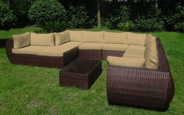 baidani rattan garten lounge freedom select integrierter stauraum braun meliert von karstadt. Black Bedroom Furniture Sets. Home Design Ideas