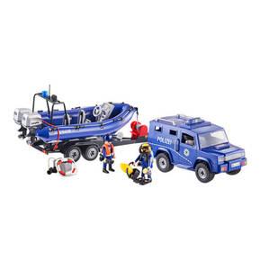 PLAYMOBIL®        Bundespolizei - Truck mit Schnellboot 9396