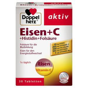 Doppelherz aktiv Eisen + C + Histidin + Folsäure 18.76 EUR/100 g