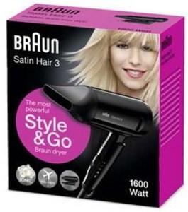 Braun HD 350 Satin Hair 3 Style & Go Haartrockner schwarz