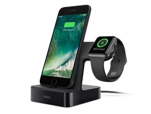 Belkin PowerHouse, Ladestation, für iPhone/Apple Watch, schwarz