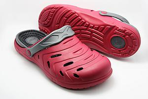 happy® shoes Clogs Massage-Wohlfühl-Schuh, rot (Größe: 39)
