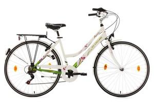 KS Cycling Damenfahrrad 26'' Papilio weiß RH 44 cm