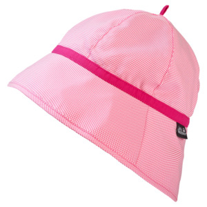 Jack Wolfskin Sonnen-Hut Mädchen Supplex Sun Hat Girls S hot pink checks
