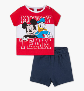 Baby Mickey Mouse Baby-Pyjama in multicolour print