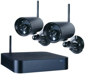 Drahtloses 4-Kanal Kamera Sicherheitssystem WDVR720S mit 2 Außenkameras Smartwares®