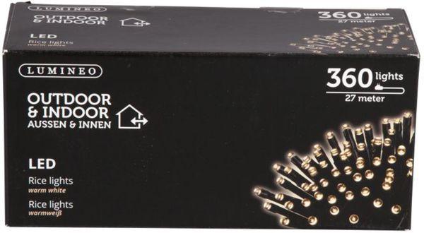 360er LED-Lichterkette - 27 m Länge - warmweiß