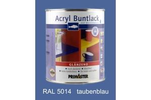 Primaster Acryl Buntlack taubenblau glänzend, 750 ml