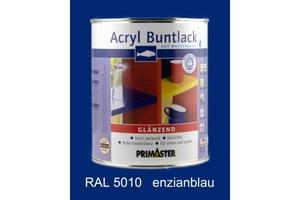 Primaster Acryl Buntlack enzianblau glänzend, 750 ml