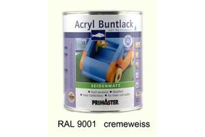 Primaster Acryl Buntlack cremeweiss seidenmatt, 750 ml