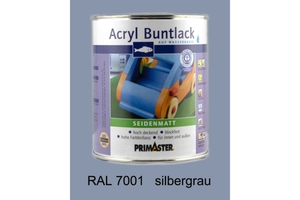 Primaster Acryl Buntlack silbergrau seidenmatt, 750 ml