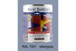 Primaster Acryl Buntlack silbergrau glänzend, 750 ml