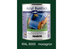 Primaster Acryl Buntlack moosgrün seidenmatt, 750 ml