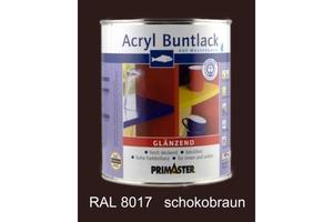 Primaster Acryl Buntlack schokobraun glänzend, 750 ml