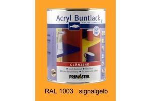 Primaster Acryl Buntlack signalgelb glänzend, 750 ml
