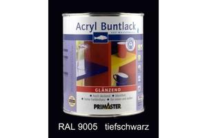 Primaster Acryl Buntlack tiefschwarz glänzend, 750 ml