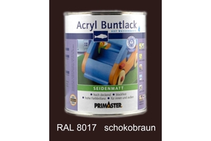 Primaster Acryl Buntlack schokobraun seidenmatt, 750 ml