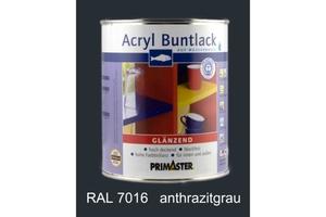 Primaster Acryl Buntlack anthrazit glänzend, 750 ml