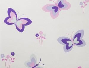 Vliestapete Schmetterlinge lila