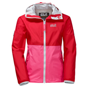 Jack Wolfskin Rainy Days Girls 128 red