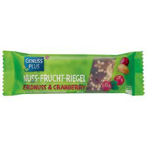 GENUSS PLUS Nuss-Frucht-Riegel Erdnuss & Cranberry 1.98 EUR/100 g (24 x 40.00g)