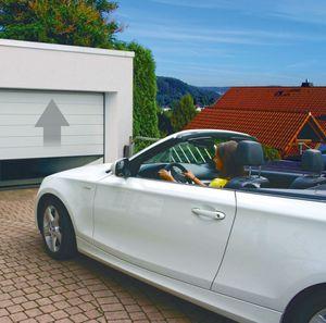 Schellenberg Garagentor weiß, 2375 x 2125 mm inkl. Garagentorantrieb GDO 50