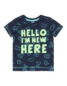 Newborn T-Shirt mit Allover-Muster