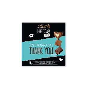 Lindt Hello Pralinen, Thank you 45g 6,20 € / 100g