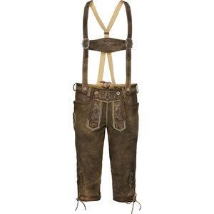 Alpenfeeling Herren Trachten-Lederhose mit Hosenträgern