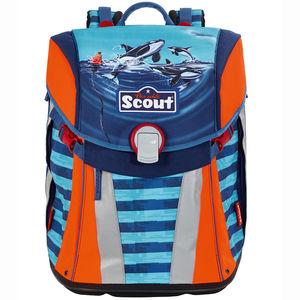 Scout Schulranzen - Set Sunny Orca Ocean, 4-teilig