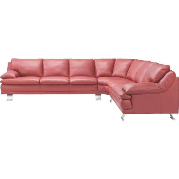 celina home wohnlandschaft echtleder r cken echt rot von. Black Bedroom Furniture Sets. Home Design Ideas