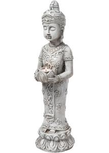 """Dekofigur """"Buddha"""" mit Windlicht"""