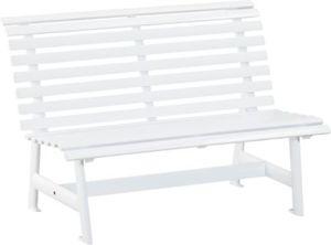 Kettler Alu-Gartenbank, 2-Sitzer weiß
