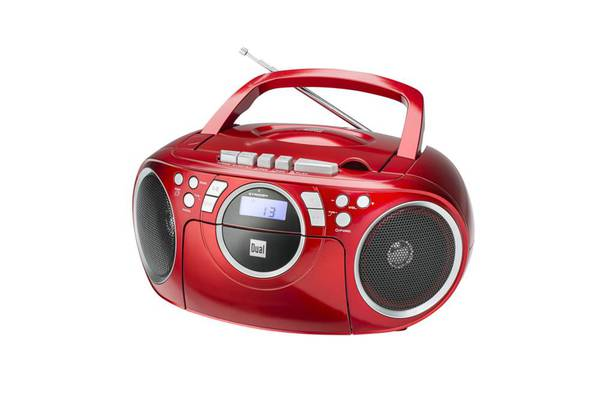 Dual Portable Boombox P70, Rot