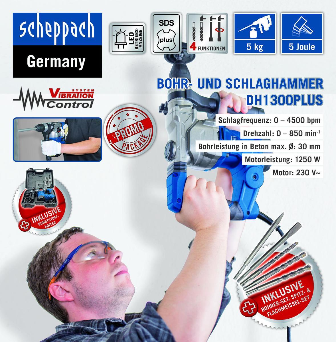 Bild 1 von Scheppach Bohrhammer DH1300Plus