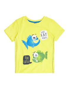 Jungen T-Shirt mit Print und Wackelaugenbesatz