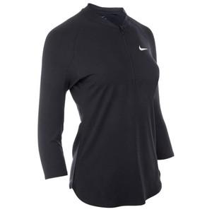T-Shirt Dry Pure Tennisshirt Damen schwarz NIKE